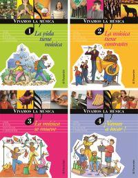 VIVAMOS LA MUSICA (4 TOMOS) + 2 Cds