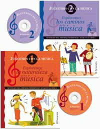 JUGUEMOS CON LA MUSICA (2 TOMOS+2 CD)